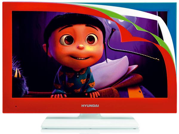 LED TV Hyundai HYULLF22945RGBR svymeniteľnými farebnými rámčekmi (základný biely, modrý, červený ažiarivo zelený).Dostupné uhlopriečky 56 a60 cm, Full HD obraz, analógový azabudovaný digitálny tuner spodporou EPG. Nahrávanie DVB-T vysielania na externý harddisk alebo USB, či Timeshift – sledovanie programu sčasovým posunom. Orientačná cena 219,80 € (uhlopriečka 60 cm).