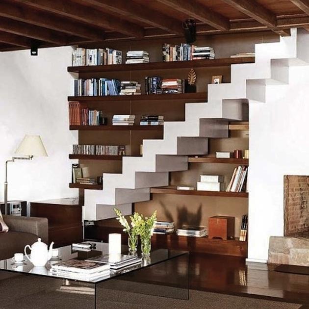 19 tipov ako využiť priestor pod schodami