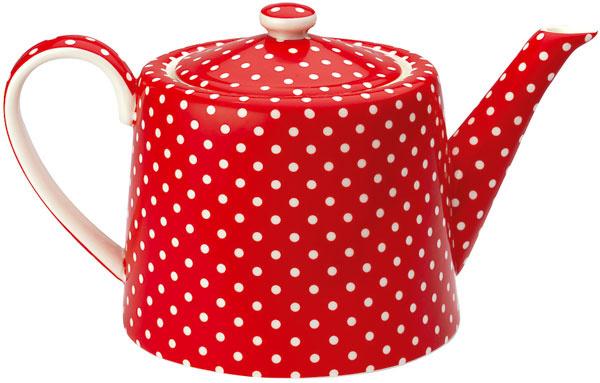 Kanvica na čaj Spot Red, 48,10 €, www.bellarose.sk