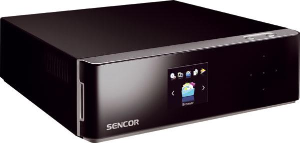 Sencor SHR 9600T 119 € (Planeo Elektro) HD multimediálny rekordér aprehrávač smožnosťou sata HDD sa popasuje skaždým formátom, ktorý do neho vložíte, anavyše sdokonalým obrazom prehrá všetko z domácej siete, čo na nej nájde (FLAC, MKV a podobne). Ak si však chcete prehrať DVD, musíte dopojiť externú mechaniku. Preto ho zaraďujeme ktrošku lepšiemu set top boxu.