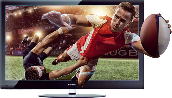 """Sencor SLE 47F90M4  679 € (Planeo Elektro), Sencor, uhlopriečka 119 cm (47""""), Full HD rozlíšenie 1 920 × 1 080, 3D pasívna technológia, 3× HDMI, 1× USB, čierna farba, prevod z2D na 3D, funkcia časového posunu Timeshift, časovač zapnutia avypnutia, automatické vypnutie, možnosť zavesiť televízor na stenu (držiak nie je súčasťou balenia)  Moje hodnotenie: +okuliare sú súčasťou balenia (ato hneď 5 ks), okrem 2D prehrá aj 3D obraz –cena, vyššia spotreba energie, neponúka sieťové funkcie, pasívna 3D technológia – rozlíšenie 1 080p na polovicu pre každé oko"""