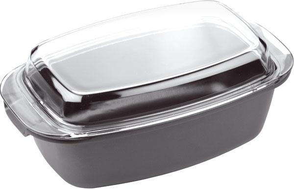 Masívny pekáč Premium spoklopom, povrch Teflon Classic, vhodný aj do umývačky, 39 × 22 × 11+ 6 cm, cena 54,80 €. Predáva tescoma.sk.