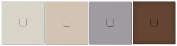 Vponuke firmy Kaldewei nájdete sprchovacie vaničky aj vprírodných matných odtieňoch Coordinated Colours Collection. Dajú sa pekne kombinovať sprírodnými materiálmi, ako sú drevo či kameň, ktoré patria kvýrazným trendom súčasných kúpeľní. Efektný je aj nenápadný prechod medzi plochou sprchovacou vaničkou apodlahou.  Oceľové smaltované vaničky Conoflat ponúka Kaldewei srôznymi rozmermi (napríklad 80 × 80, 90 × 90, 100 × 100, 120 × 120, 100 × 150, 90 × 170 cm) av rozličných farbách. Cena závisí od veľkosti – od 607,20 €, pre všetky odtiene je rovnaká, cena špeciálnej odtokovej súpravy od 159,60 €.