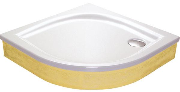 Akrylátová vanička RAVAK Elipso 90 EX – samonosná vanička bez panela určená na obmurovanie. Rozmery 90 × 90 cm, cena 177 €.