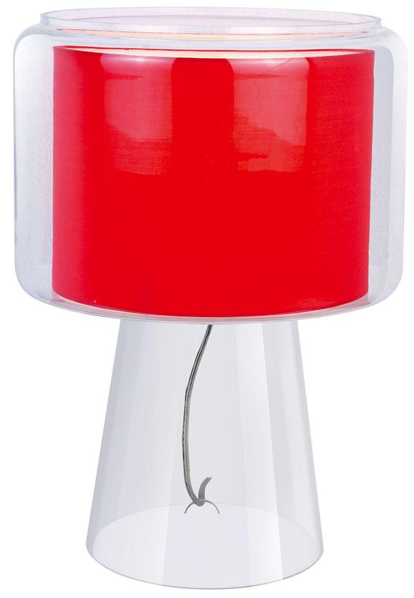 Stolová lampa Rosso, sklo alátka, zn. AZzardo, 69 €, www.svetsvetiel.sk