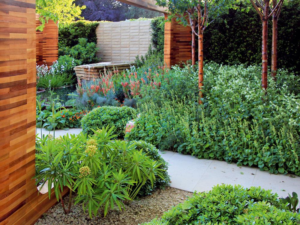 Veľa pohody vjednej mestskej záhrade