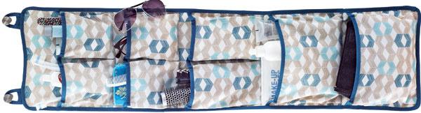 Závesný úložný diel Notudden na dvere, polyester, 26,5 × 105 cm, dizajn Inma Bermudez, cena 7,99 €. Predáva IKEA.