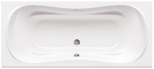 Vaňa Campanula II od firmy Ravak, dizajn Kyštof Nosál, hydromasáž, objem 200/220 l, 180/170 × 80/75 cm. Cena od 375 €.