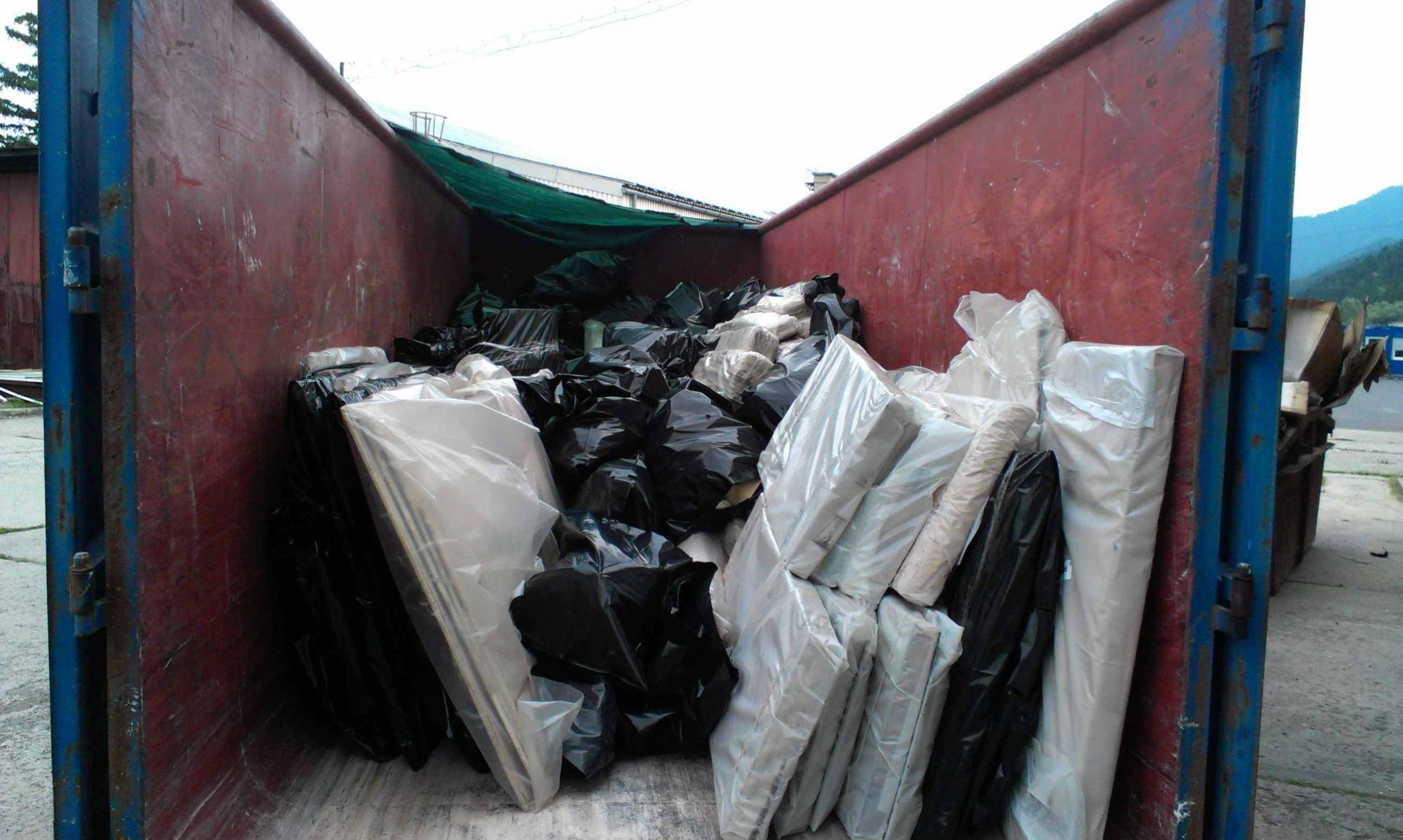 Odvoz azbestového odpadu