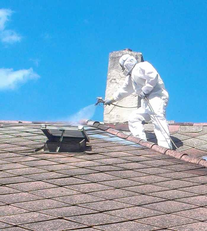 Postrekovanie eternitovej strechy