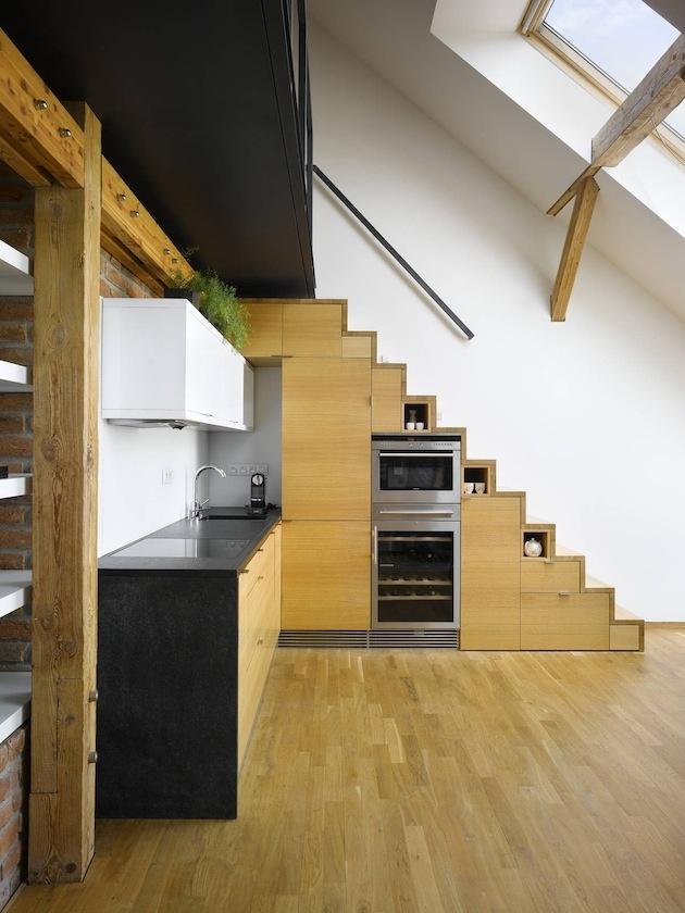 Simple Attic Loft Residence in Czech Republic