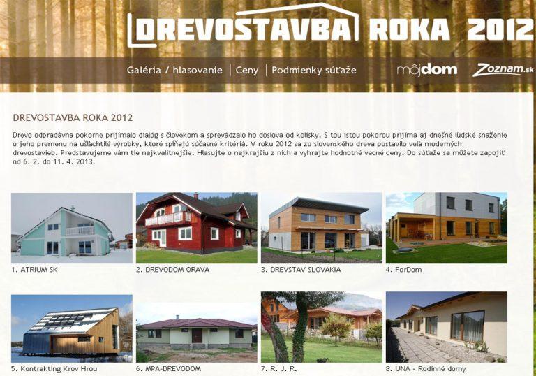 Posledná šanca vyhrať hodnotné ceny v súťaži Drevostavba roka 2012!