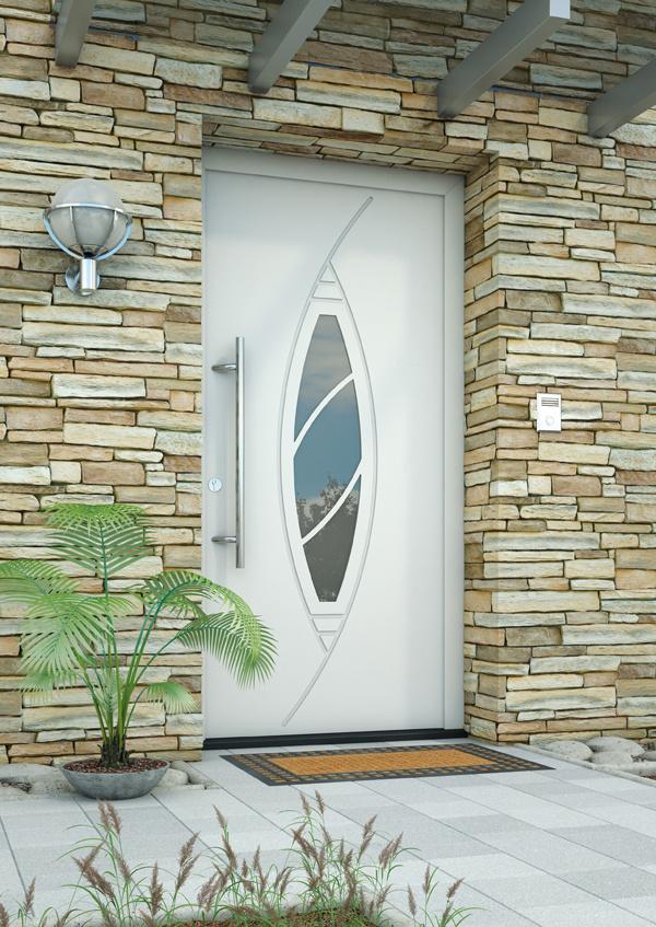 Celohladké vchodové dvere série ENTRY