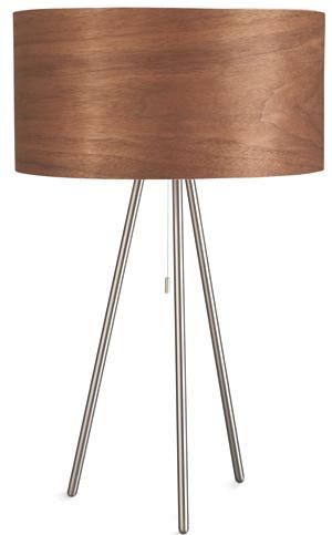 Svietidlo Finn, zaoblená silueta vdrevenom vyhotovení od firmy Philips, 3 × 12 W, úsporné žiarovky sú súčasťou svietidla. Odporúčaná cena 236 €. Predáva Feim.