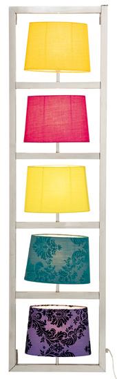 Nástenná lampa Parecchi Vertical Chrome, chrómová oceľ, polyester, bavlna, polystyrén, 5 × E27, max. 25 W, 1,38 × 0,37 × 0,162 m. Cena 329,90 €. Predáva Kare, Light Park.