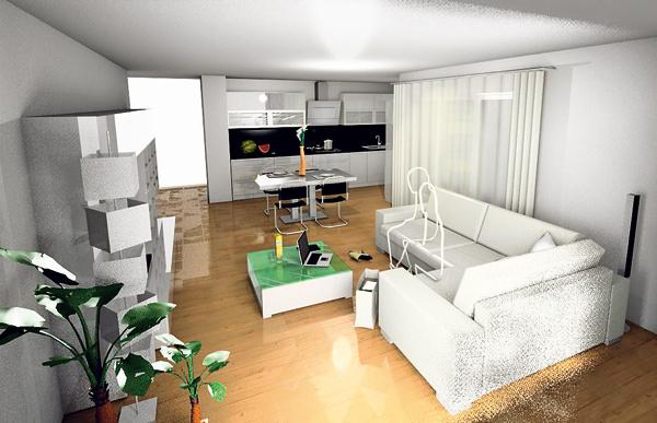 3d projekt je veľmi názorný – dá sa tu nasimulovať nielen rozloženie nábytku vpriestore, ale aj rôzne farby či povrchové úpravy. Budúci interiér si tak viete pomerne presne predstaviť.