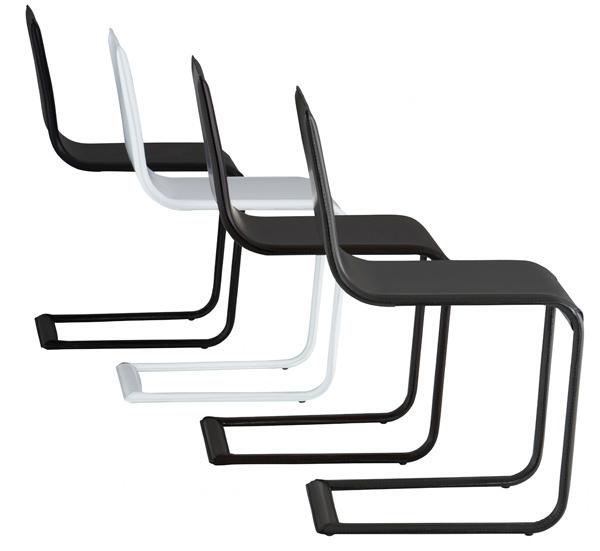 2010 Rakúsko-nemecká dvojica dizajnérov    Nasrallah & Horner, známa aj ako Soda Designers, vytvorila jedálenskú stoličku Schema (Ligne Roset, 2010) s koženým poťahom na oceľovom ráme vduchu svojho motta Jednoduché azároveň zložité. Približuje sa tým kMartovi Stamovi viac ako len pružným rámom. 686 €, Ligne Roset