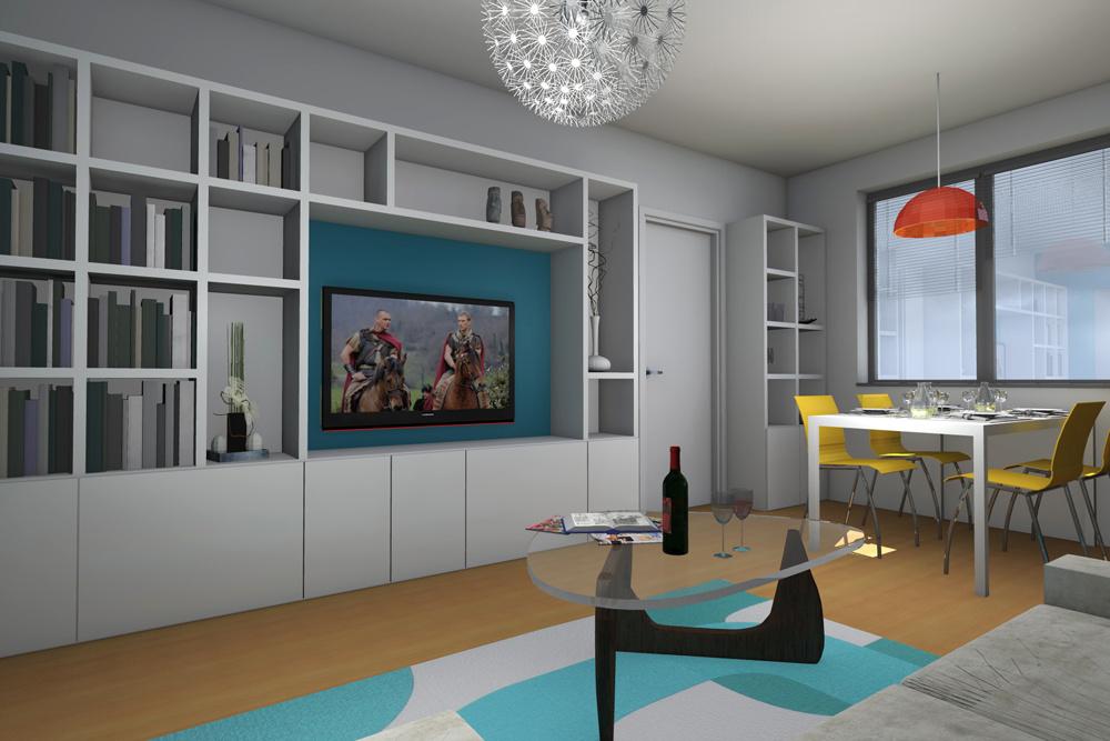 Návrh pre zmodernizovanie bytu v Karlovej Vsi.