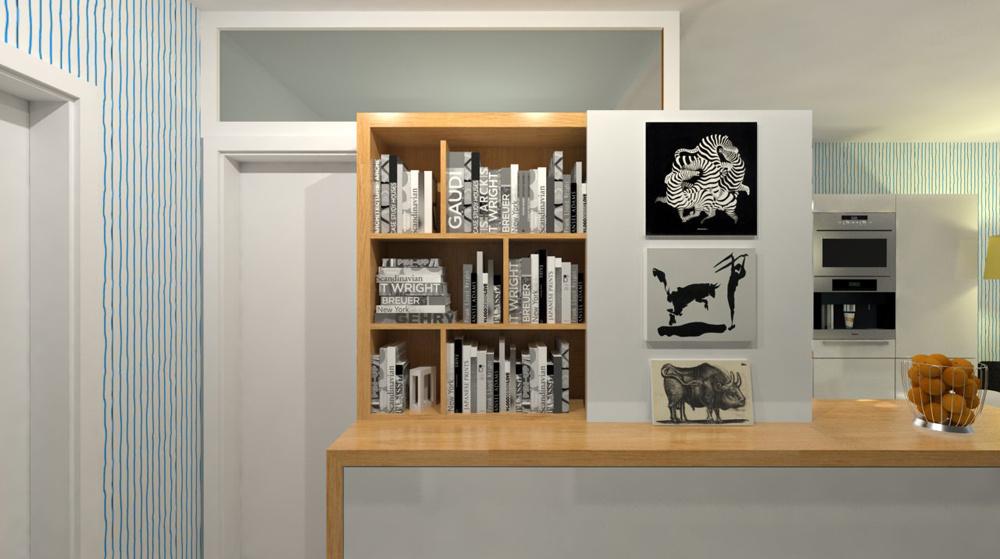 Návrh malej knižnice a galérie