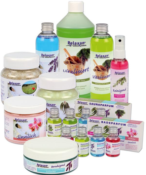 Aromaterapeutické kúpeľové doplnky Relaxan. Predáva Poly System.