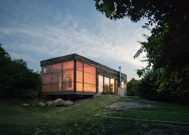 Moderný retro dom na Long Islande