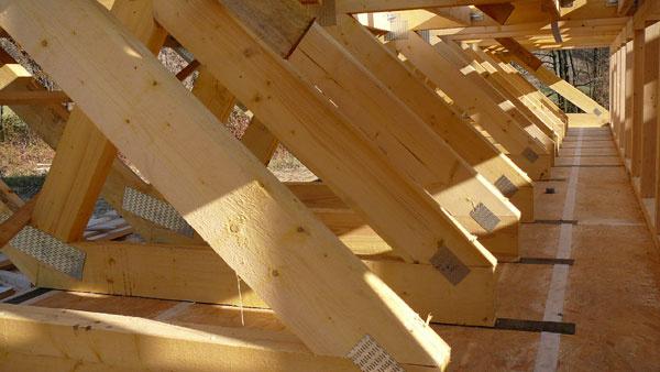 Hlavným stavebným materiálom budúceho domu Mateja a Dáše malo byť drevo – jeho výhodou je totiž okrem prírodnej podstaty aj rýchla výstavba. Priečky chceli mať znepálených tehál, omietky zhliny. Kamarát-architekt, ktorý sa zaoberá ekologickým staviteľstvom, im vnukol myšlienku využiť ako tepelnú izoláciu slamu. Hneď po kúpe pozemku (vyhliadli si ho vlete 2010, ešte pred žatvou), sa teda pustili do zháňania kontaktov, aby mohli slamu zjesene využiť na jar pri stavbe domu. Na Vianoce 2010 mali projekt od ateliéru Oximoron a vlete roku 2011 sa stretli spríjemnými ľuďmi z firmy Kontrakting, riaditeľom Ing. Igorom Mičundom aprojektantom Ing. Jurajom Pečenanským. Pre nezvyčajný koncept domu sa nadchli rovnako ako mladí investori aboli pripravení na spoluprácu.