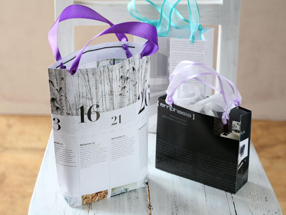 Podarujte darčeky vo vlastnoručne vyrobených taškách