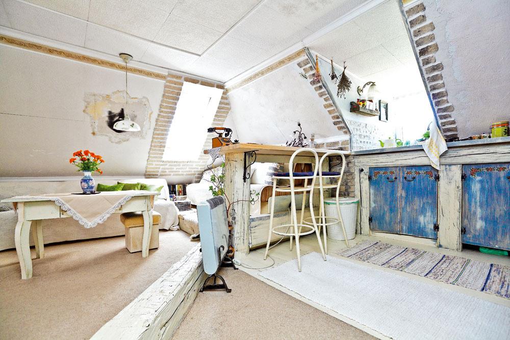 Štýlová rekonštrukcia podkrovného bytu