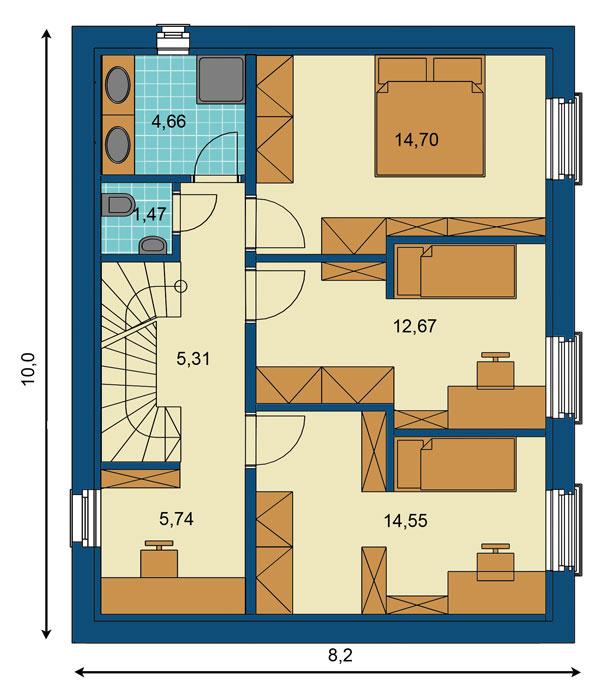 Typový dom vpasívnom štandarde snázvom EcoCube navrhla architektonická kancelária Createrra spolu svýrobcom montovaných drevostavieb, zvolenskou firmou ForDom. Modulový systém umožňuje postaviť niekoľko typov pasívnych domov – od malých prízemných, asi 90 m², až po 156 m² úžitkovej plochy. (www.fordom.sk)