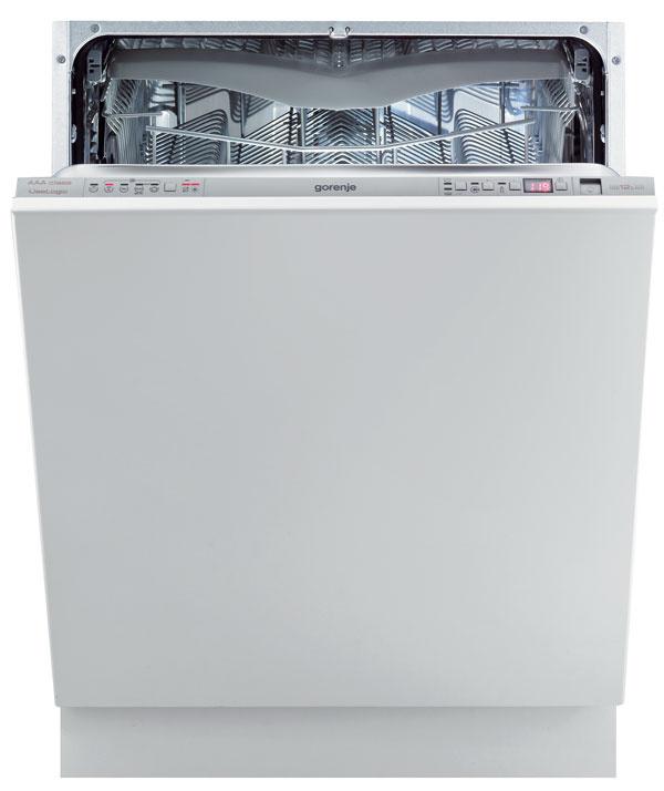 Umývačka Gorenje GV 65324 XV, 14 súprav, 9 programov, 3 umývacie ramená, 5 úrovní prúdu, 5 teplôt, 3 úrovne výšky košov, systém MultiClack, ročná spotreba energie 231 kWh, vody 2 640 l, trieda AAA, 899 €