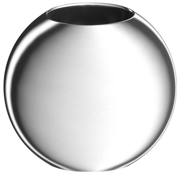 Okrúhly hliníkový svietnik NÄSSJÖ, priemer 14 cm, výška 11 cm, na sviečku s priemerom maximálne 7 cm,  7,99 €