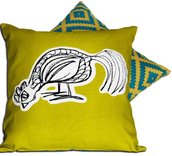 Obojstranný vankúš Lappljung Fågel, poťah z bavlny, polyesterová výplň, 40 × 40 cm. Cena 5,99 €. Predáva IKEA