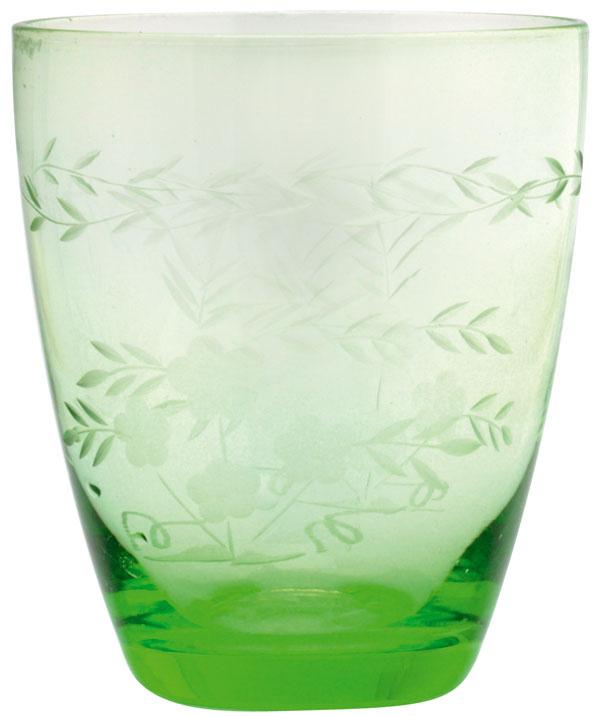 Pohár na vodu Green sbrúseným lemom, od firmy Green Gate, výška 11 cm, 8,36 €, bellarose.sk
