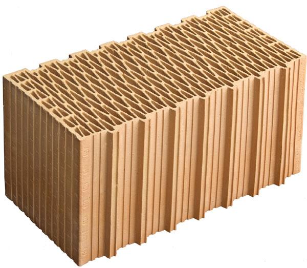 Pre obvodové murivo nízkoenergetických domov bez zateplenia sú určené brúsené tehly vyrábané všírkach 38, 44 a50 cm.