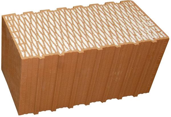 Brúsený tehlový blok sintegrovanou tepelnou izoláciou srezervou spĺňa požiadavky na obvodovú konštrukciu pasívnych domov.