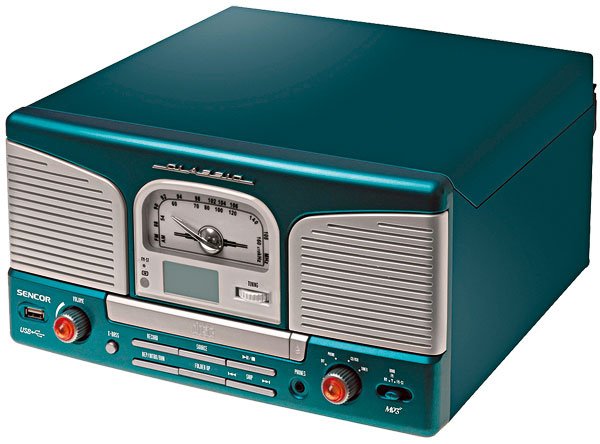 Retro gramofón Sencor STT 114BLUE, 31 x 33 x 14,8 cm, 106,92 €, Sencor