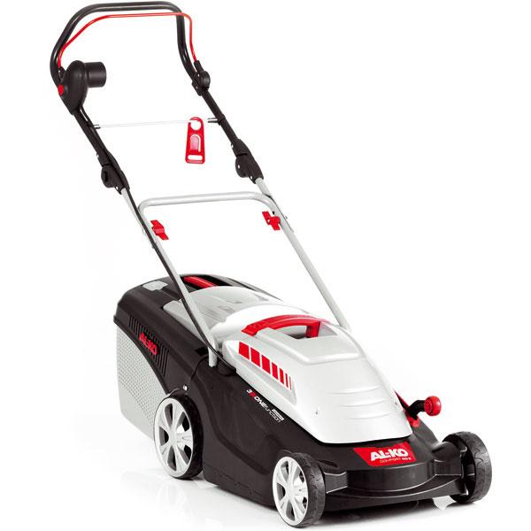 Elektrická kosačka AL-KO 40 E Comfort, na plochy do 600 m2, kosenie, zber amulčovanie, výkon 1,4 kW, pneumatiky XL na optimálny jazdný komfort, záber 40 cm, centrálne nastavenie výška kosenia 2,8 – 6,8 cm, objem koša 43 l, 139,90 €