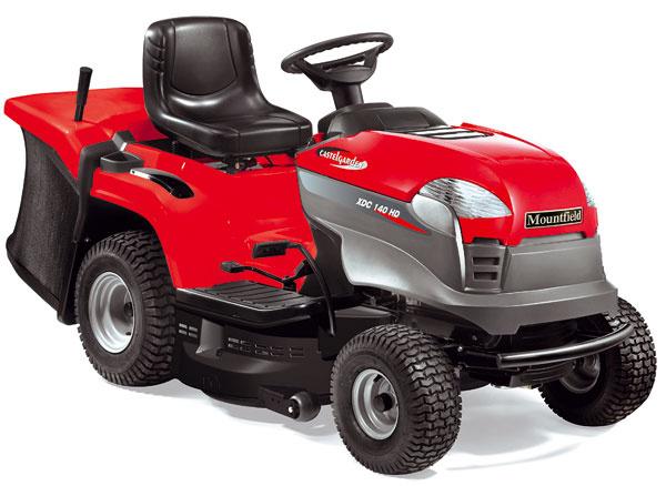 Traktor XDC 140 HD, motor Briggs & Stratton, výkon 13,5 HP, elektromagnetické zapínanie kosačky, nastaviteľné sedadlo, mulčovanie, záber 84 cm, výška kosenia 3,0 – 8,5 cm, objem koša 240 l, 7-ročná záruka, Mountfield, 1 960 €