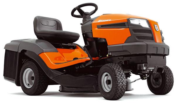 Traktor Husqvarna CTH 126,  dobrá dostupnosť na úzke azle prístupné miesta, výkyvná predná náprava, hydrostatická prevodovka ovládaná pedálom, zdvihový objem valca/výkon 344 cm3/6,4 kW, záber 77 cm, výška kosenia 2,0 – 8,0 cm, objem koša 200 l, 2 195 €