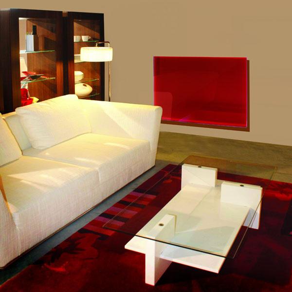 Sklenené sálavé panely sú určené predovšetkým na vykurovanie obytných priestorov. Vyrábajú sa vo viacerých farebných úpravách, okrem iných aj vo vyhotovení ako zrkadlo.