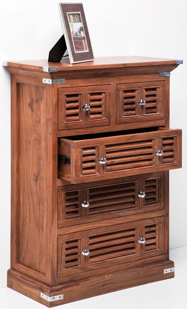 Bielizník Dresser Shelter zagátového masívu shliníkovým kovaním, 100 × 70 × 35 cm, 849,90 €, Kare, Light Park