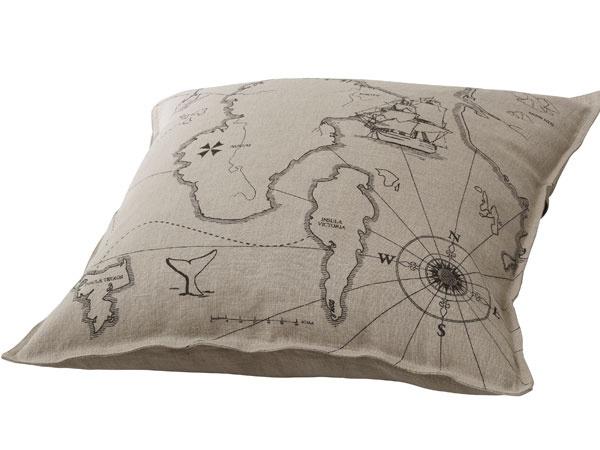 Vankúš Benzy Land, ramie, dizajn Océane Delain, 50 × 50 cm, 9,99 €, IKEA
