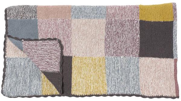 Pletená deka Hübsch Multi, 130 × 170 cm, 100 % bavlna, 92,16 €, bellarose.sk