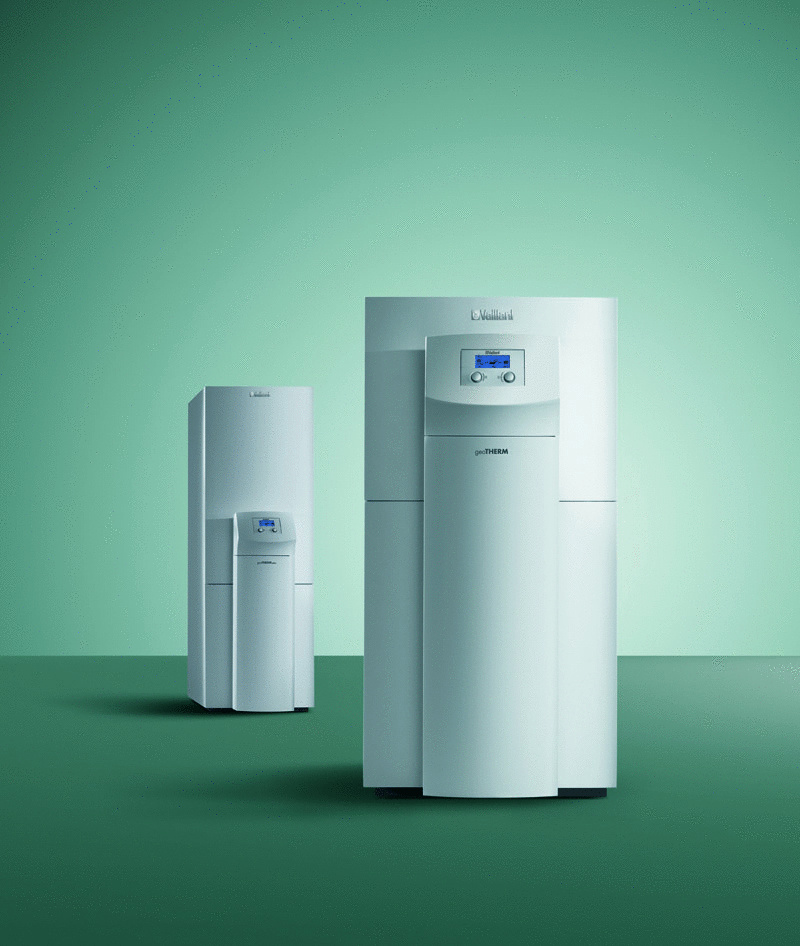 Tepelné čerpadlá geoTHERM značky Vaillant sa vyznačujú vysokou účinnosťou, nízkymi prevádzkovými nákladmi, jednoduchou obsluhou a užívateľským komfortom. Nízke prevádzkové náklady tepelných čerpadiel Vaillant možno dosiahnuť vďaka vysokej účinnosti (COP), ktorá je jedna z najvyšších na trhu (pri tepelných čerpadlách zem-voda je až 5,1, pri tepelných čerpadlách vzduch-voda je COP 4,5).K dispozícii sú vo viacerých výkonových radoch a vo verzii bez alebo s integrovaným 175 l nerezovým zásobníkom teplej vody. Priestorovo úsporný a pekný dizajn týchto tepelných čerpadiel umožňuje ich umiestnenie aj v najmenších obytných miestnostiach.
