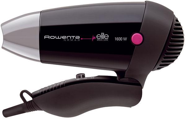 Kompaktný sušič vlasov so sklopnou rukoväťou Rowenta Travel Nomad CV3502 ideálny na cesty. Príkon 1 600 W, duálne napätie (110 – 127V / 220 – 240V), koncentrátor vzduchu, 2 nastavenia rýchlosti / teploty vzduchu, rukoväť smäkkým gumovým povrchom, závesné pútko. Cena 19,90 €.