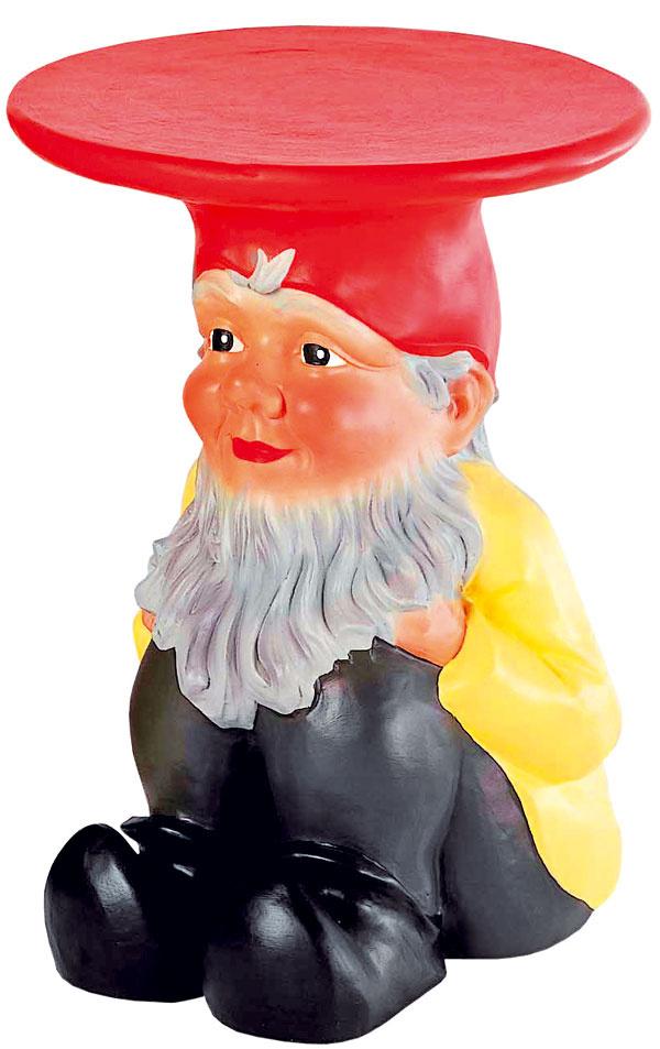 Gnomes, taburetka, dizajn Phillippe Starck, Kartell, výška 45 cm, 200 €, www.kabinetkabinet.sk