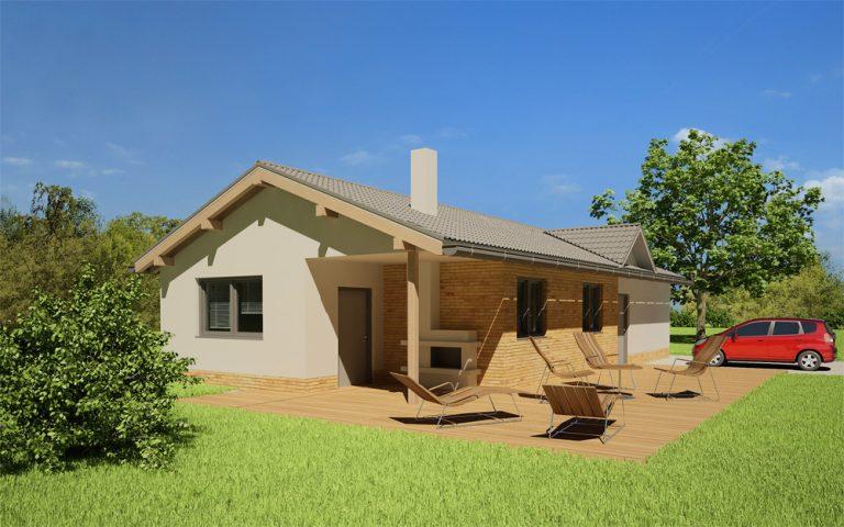 Tip – projekt rodinného domu na úzky pozemok