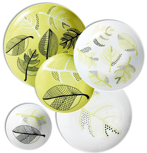 Taniere amisky zo série ÖVERENS, so vzorom vbielo-zelenej farebnosti, od 2,49 €, IKEA