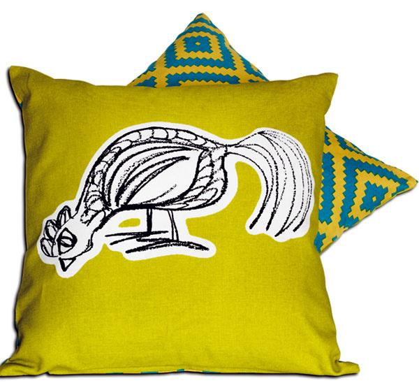 Vankúš LAPPLJUNG FÅGEL, poťah zo 100 % bavlny, so zipsom, obojstranný – na každej strane iný vzor, výplň polyester, 40 × 40 cm, 5,99 €, IKEA