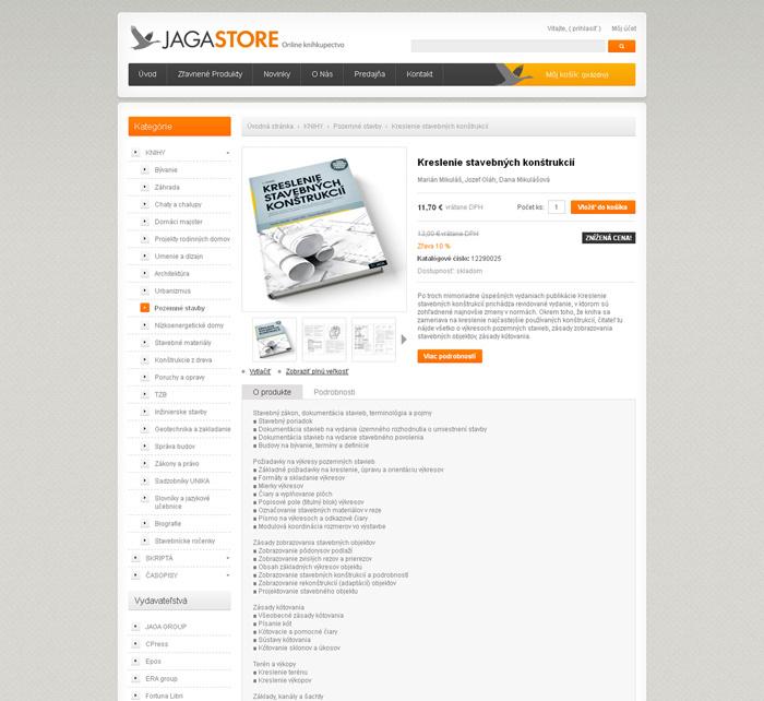 Virtuálne kníhkupectvo www.jagastore.sk